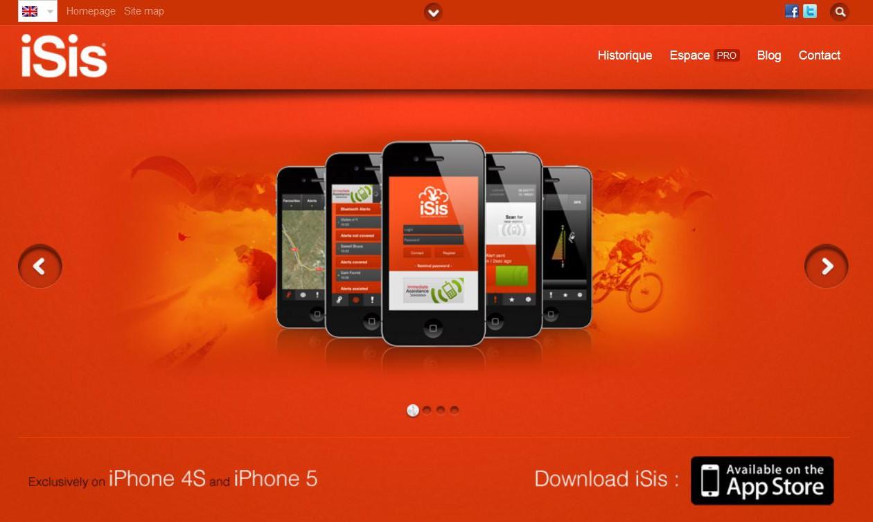 Isis Smartphone Lawinen App