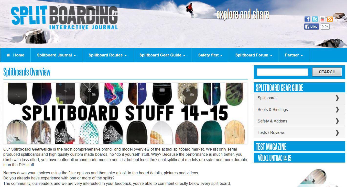 splitboard marktübersicht 20142015 splitboards com