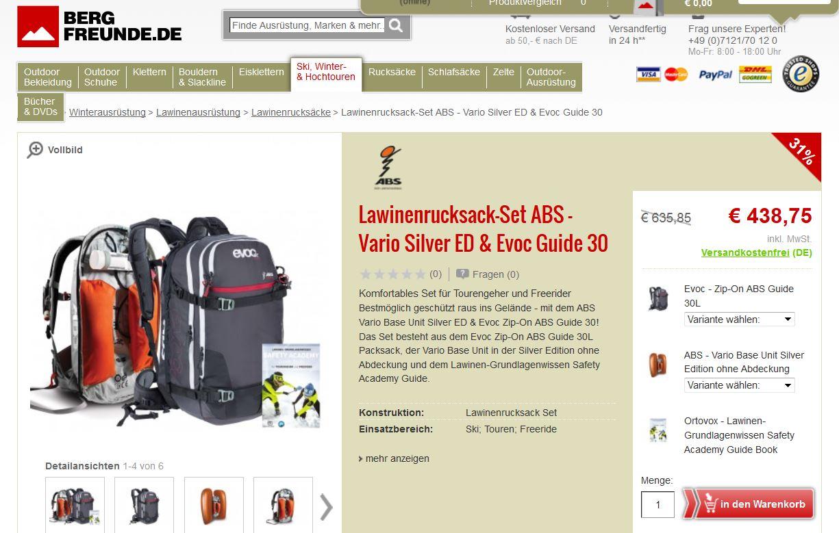 abs rucksack bergfreunde