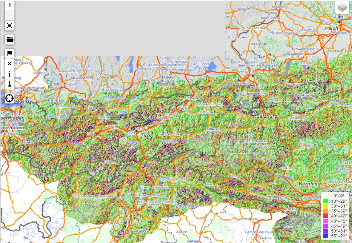 openslopemap übersicht onlinekarte deutschland österreich detail