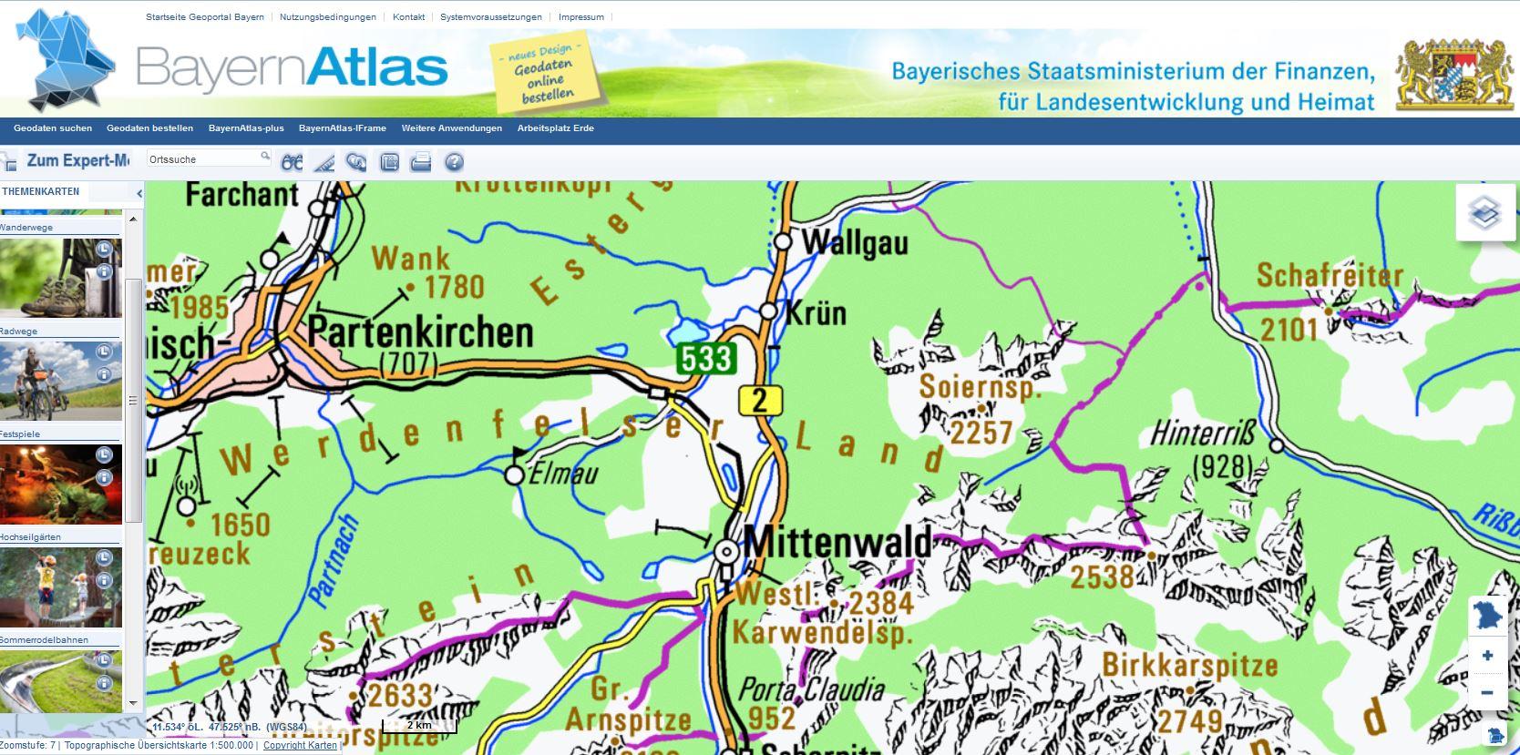Topografische Onlinekarten Fur Freerider Tourengeher Und