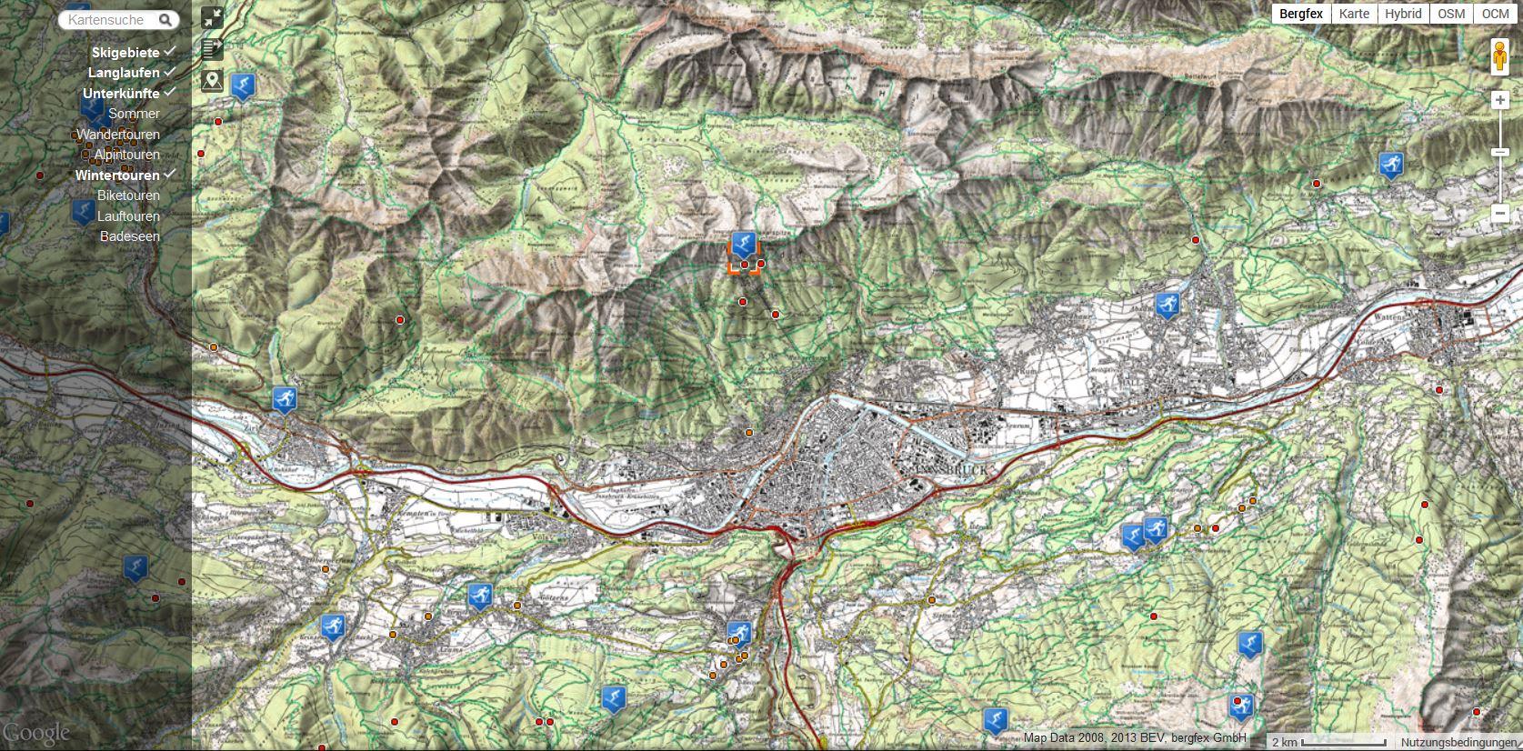 topografische Onlinekarten topografische karten online bergfex