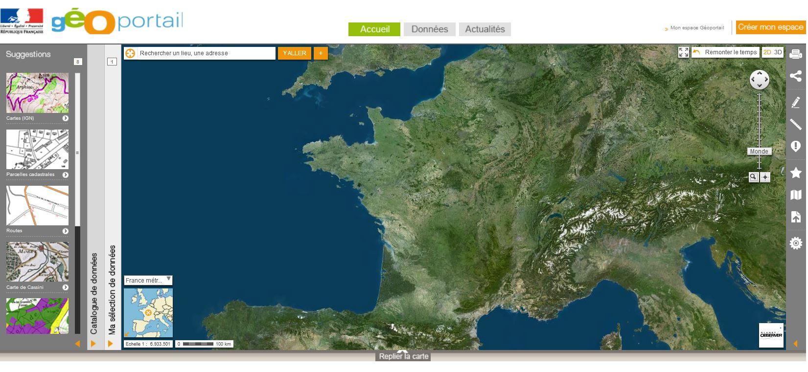 topografische karten online geoportail frankreich