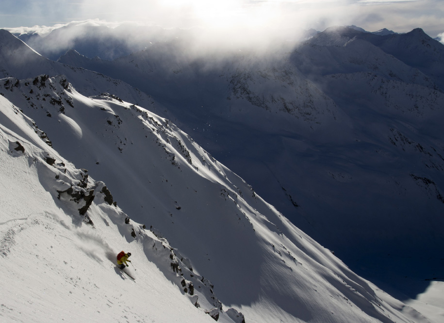 the real world, lea hartl, freeridetour, skitour, tirol, ötztal, freeski mountaineering