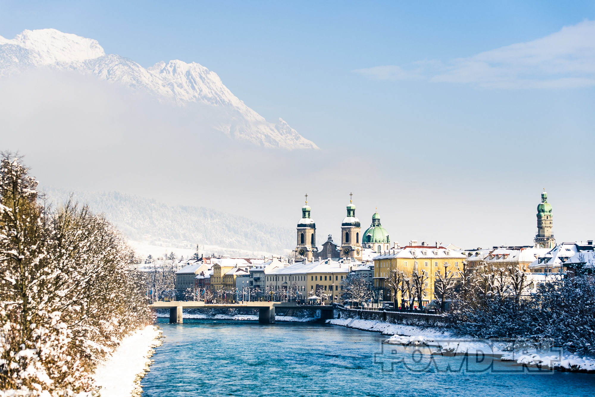 Innsbruck, Nordkette, Neuschnee, rauspowder, reinpowdern, Postkartenwetter, Postkarte, Inn, Dom, Innenstadt