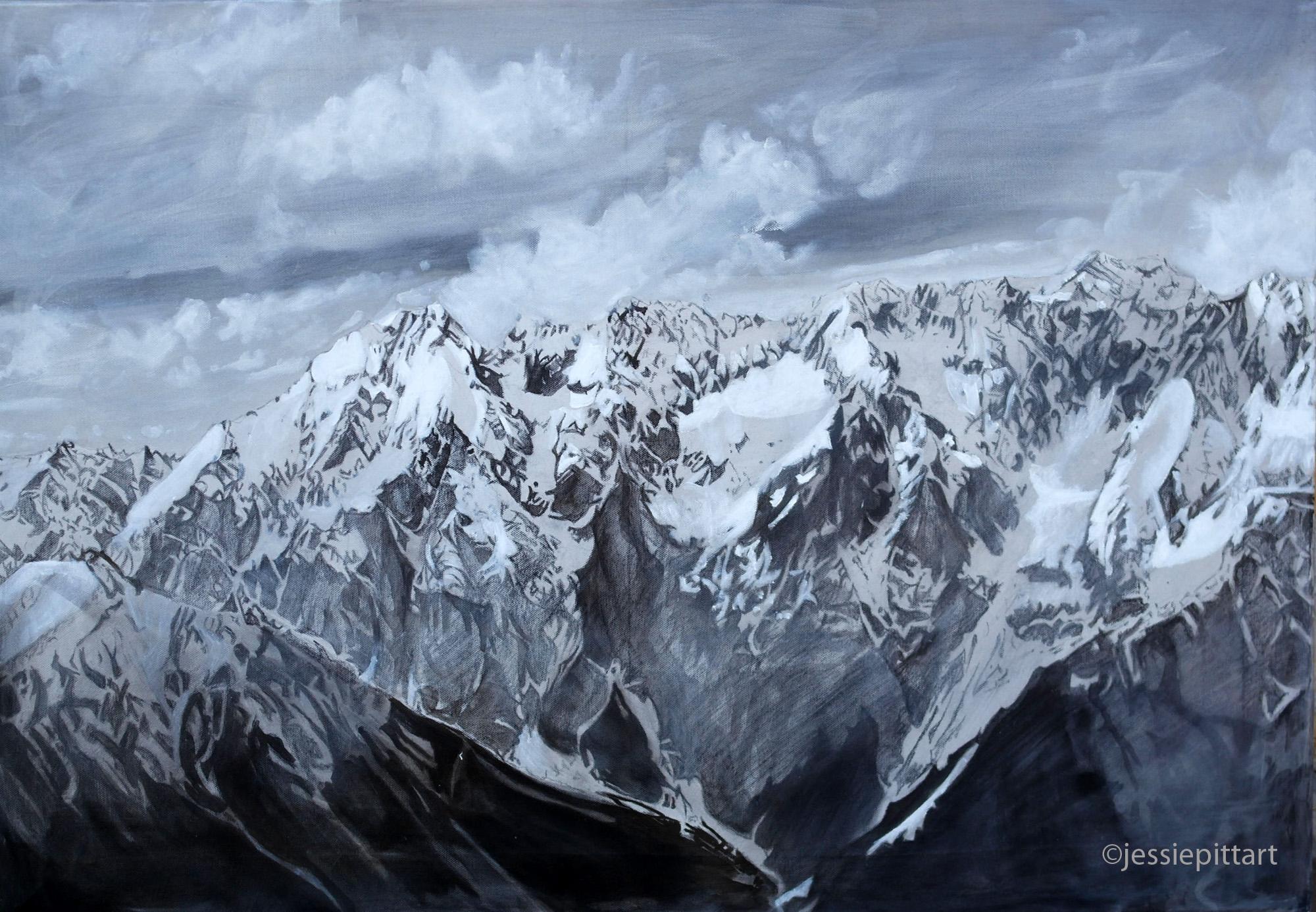 Jessie Pitt, mountain paintings, paint, mountains, Ötztal, Jessie Pitt Art