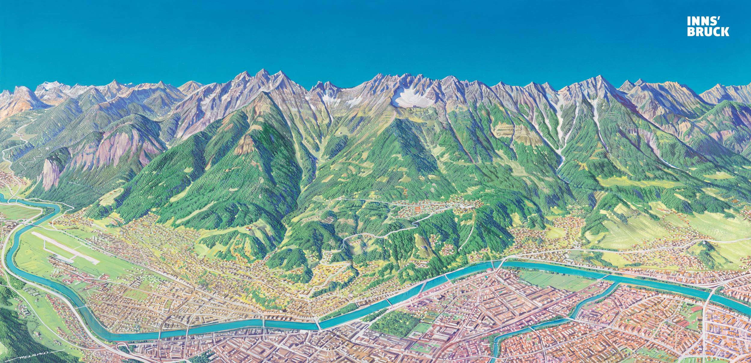 der traummaler, vielkind, panoramakarten, skigebietspanorama